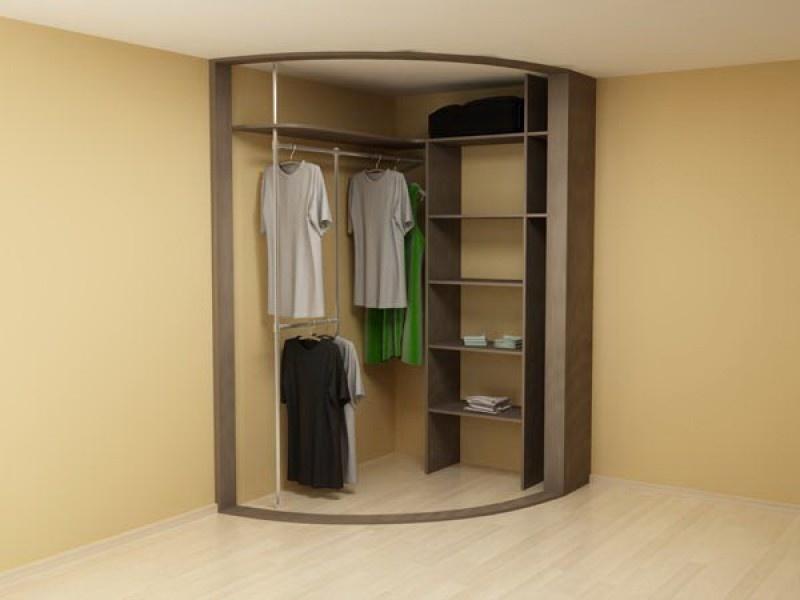 Внутренние наполнение радиусных шкафов купе мебель от миттек.